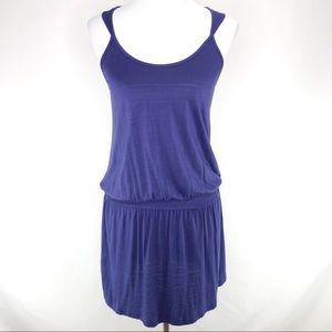 Anthropologie Eloise Dark Blue Summer Dress Medium